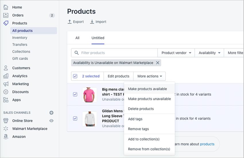 如何在沃尔玛上发布Shopify产品